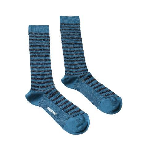 Missoni GM00CMD5228 0004 Turquoise/Black Calf Length Socks