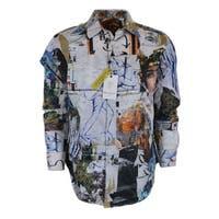 Robert Graham ASHLAR STONE Art Collage Print Cotton Classic Fit Shirt