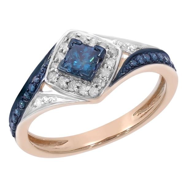Shop Prism Jewel 0.51Ct Princess With Round Blue Diamond