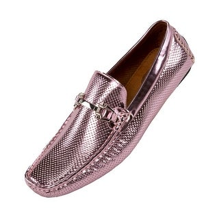 Amali Men's Perforated Patent Driving Moccasin