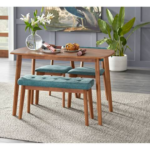 Simple Living 4-Piece Nettie Solid Wood Dining Set