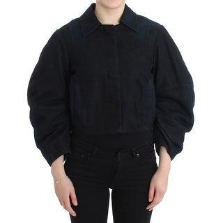 GF Ferre GF Ferre Blue Denim Jacket Coat Blazer Short 2 in 1
