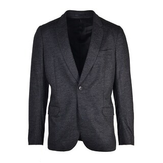 Paul Smith Mens Dark Wool Salt Pepper Textured Sports Coat