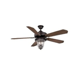 "Savoy House 52-135-5 Trudy 52"" Indoor Ceiling Fan - 5 Blades Fan and Light Kit Included - english bronze"