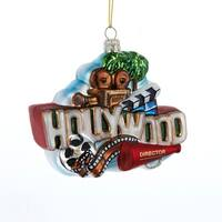 "Set of 6 Vibrantly Colored ""Hollywood"" Sign Christmas Hanging Ornaments 5"" - RED"