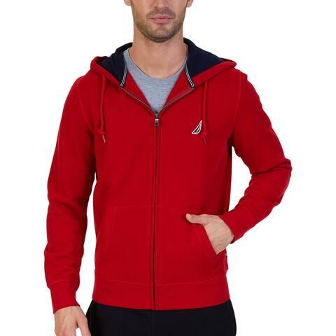 Nautica Mens Hoodie Zip-Front Super Soft