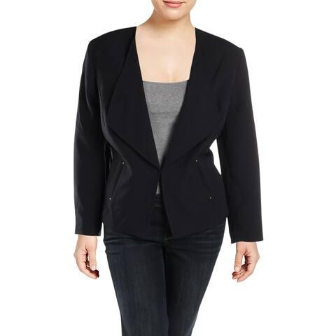 Tahari Womens Plus Blazer Textured Office