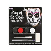 Day Of The Dead Adult Costume Makeup Kit Male - Multi-Colored