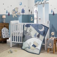 Disney Baby Forever Pooh Blue/Gray Bear 3-Piece Baby Crib Bedding Set by Lambs & Ivy