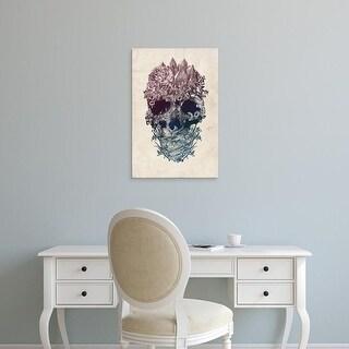Easy Art Prints Ali Gulec's 'Skull Floral III' Premium Canvas Art