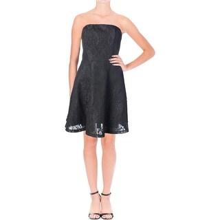 Aqua Womens Lace Prom Cocktail Dress