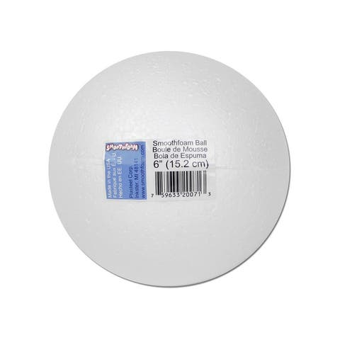 Rt130-1 plasteel smoothfoam ball pkg 6 white 1pc