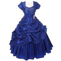 Chic Baby Royal Blue Layered Bolero Pageant Dress Set Girl 4-16