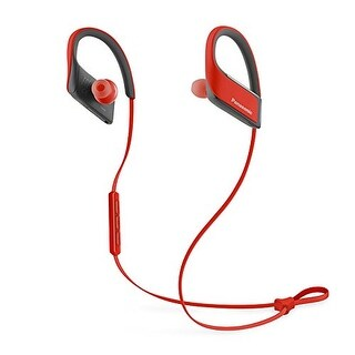 Panasonic Wings Wireless Bluetooth Sports Clip Headphones w/ Mic (Red)