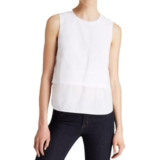 Theory Womens Tank Top Layered Pleated