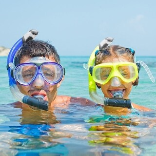 Ivation Snorkel Mask - Single Lens Frameless Diving Mask - for Scuba Diving, Snorkeling, Swimming