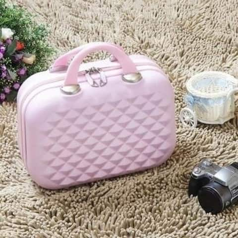 Trolley Luggage Suitcase Cute Little Mini-Suitcase Female Korean Cosmetic Bags 14-Inch 12-Inch Tide