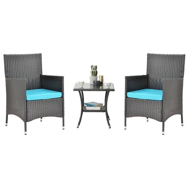 Outdoor Furniture Patio Set Three Piece Chair And Table Overstock 31858197