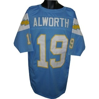 Lance Alworth unsigned Powder Blue TB Custom Stitched Pro Style Football Jersey XL
