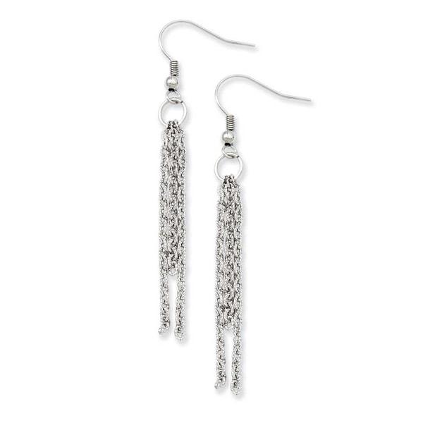 Stainless Steel Multistrand Fancy Dangle Earrings