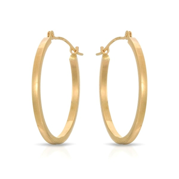 Mcs Jewelry Inc 14 KARAT YELLOW GOLD SQUARE TUBE HOOP EARRINGS (20MM)