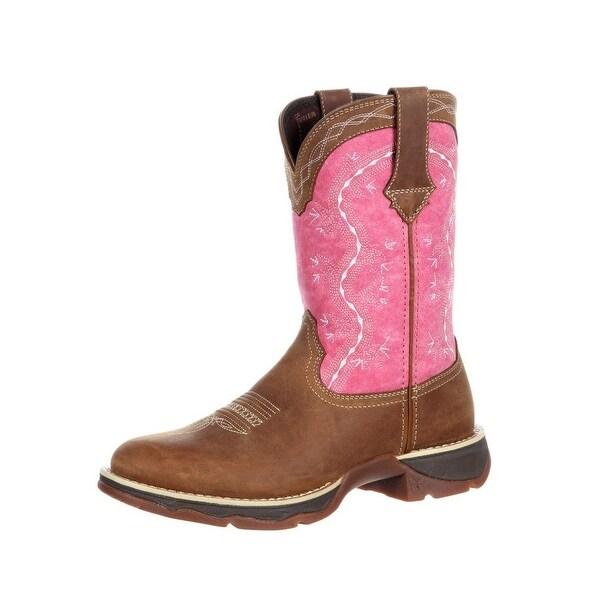 Durango Western Boots Womens Rebel Southwest Rocker Heel Brown