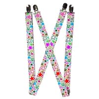 Buckle Down Women's Elastic 1 Inch Wide Clip-End Stargazer Suspenders