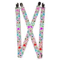 Buckle Down Women's Elastic 1 Inch Wide Clip-End Stargazer Suspenders - one size
