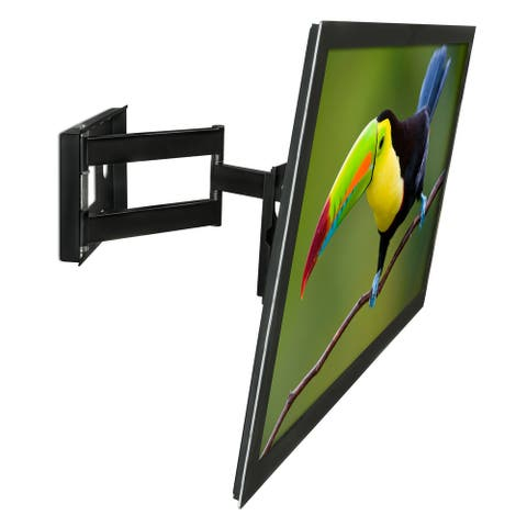 "Mount-It! MI-2171L TV Wall Mount Full Motion Bracket with Swing Out Arm, for 32"" to 65"" Flat Screen - Black"