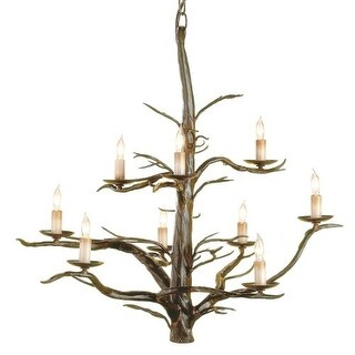 Currey and Company 9327 Treetop Chandelier, Large with Customizable Shades
