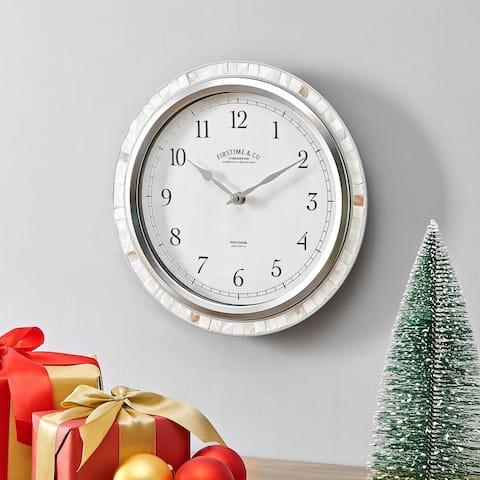 FirsTime & Co. Sophia Mosaic Wall Clock, Pearl Mosaic, Plastic, 11.5 x 2 x 11.5 in