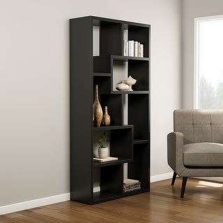 Link to Porch & Den Verrazano Contoured Leveled Display Cabinet Similar Items in Bookshelves & Bookcases