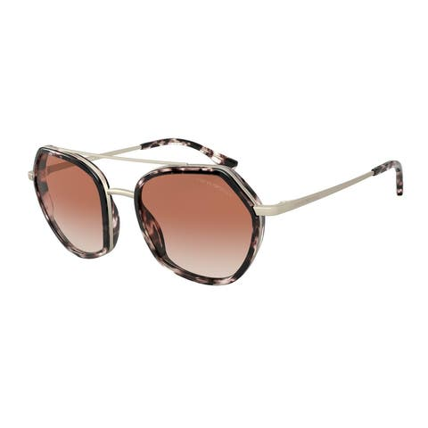 Emporio Armani EA2098 331113 53 Matte Pale Gold & Pink Havana Woman Irregular Sunglasses