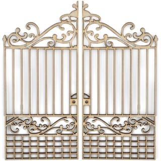 Wood Flourishes 2/Pkg-Gates
