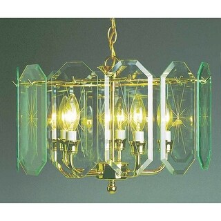 Volume Lighting V3195 5 Light 1 Tier Chandelier with Beveled Glass Shade