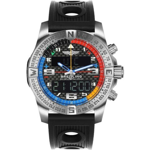 Breitling Men's EB551222-BG45-201S 'Exospace' Black Rubber Watch