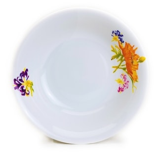 """Link to Euro Ceramica Tiger Lilly 15"""" Oval Platter and 48oz Serving Bowl Set (2-Piece) Similar Items in Serveware"""
