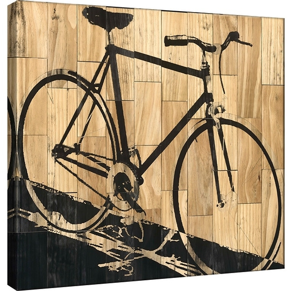 """PTM Images 9-100948 PTM Canvas Collection 12"""" x 12"""" - """"Fixed Gear 2"""" Giclee Bicycling Art Print on Canvas"""