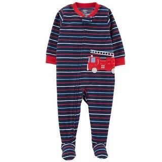 Carter's Baby Boys' 1-Piece Firetruck Fleece PJs
