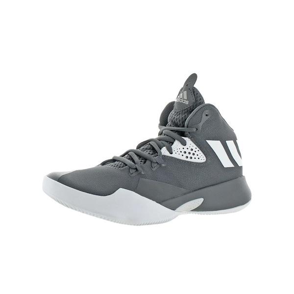 Adidas Boys Dual Threat 2017 J Basketball Shoes Big Kid Sprint Foam - 4  medium ( 497ccfb25