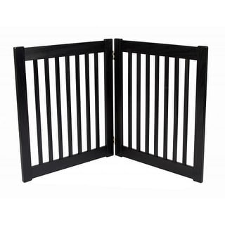 Two Panel EZ Pet Gate - Small/Black