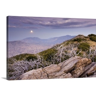 """Rising moon over San Jacinto Valley, seen from the Pacific Crest Trail, California"" Canvas Wall Art"