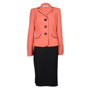 Evan Picone Women's Atlantis Skirt Suit - mango/black