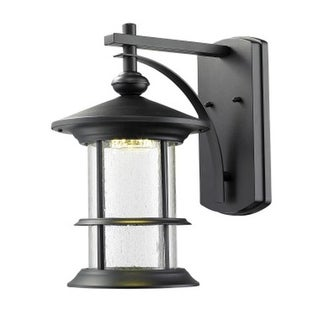 Zlite 552M-BK-LED Outdoor LED Black Wall Light - Clear Seedy