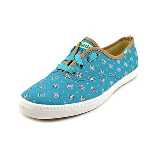 Keds Ch Tie Print Women Round Toe Canvas Blue Sneakers