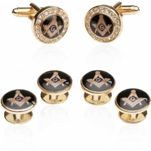 Crystal Gold Masonic Formal Set