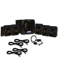 Acoustic Audio AA5230 Bluetooth 5.1 LED Speaker System Optical In & 4 Ext Cables