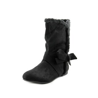 Dolce by Mojo Moxy Hopper Youth Round Toe Synthetic Black Winter Boot