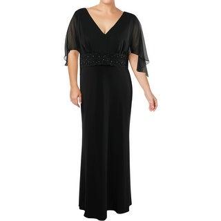 Betsy & Adam Womens Plus Evening Dress Full-Length Formal