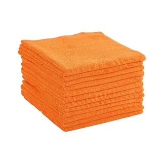 Dri Professional Extra-Thick Microfiber Cleaning Cloth - 16 in x 16 in - 48 Pack (Option: Orange)